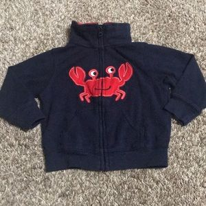 Carters crab zip up jacket